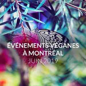Les évènements véganes de juin 2019 à Montréal