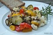 Gemüse vom Blech
