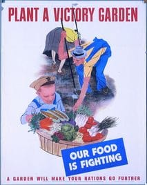 plant a victory garden government poster