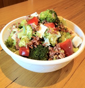 Broccoli & red rice salad