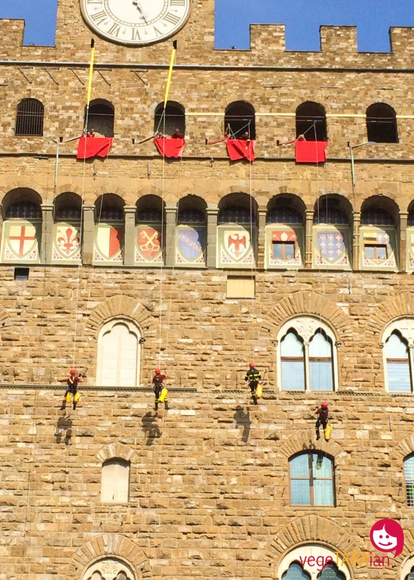 Firefighters Palazzo Vecchio Florence