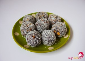 Green choc power balls