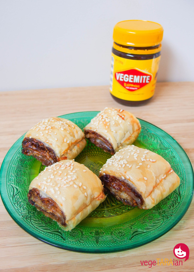 Vegemite and cheese puff