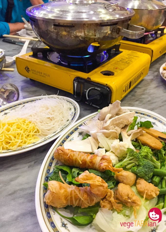 Vegetarian steamboat in the Cameron Highlands, Malaysia