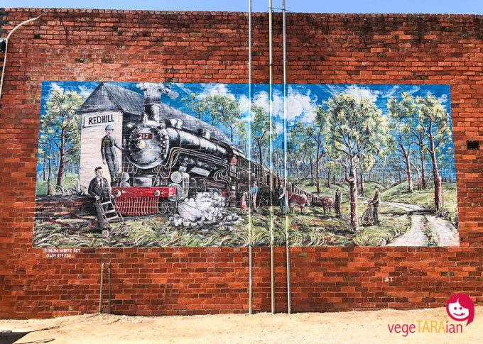 Street art in Red Hill Mornington Peninsula