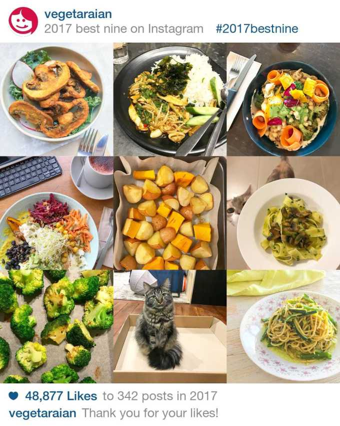 2017 best nine vegeTARAian