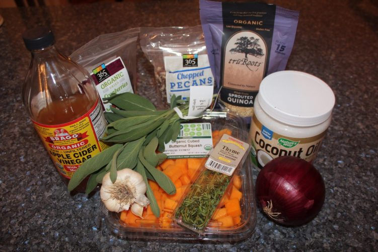 Butternut Quinoa Cran-Slam Ingredients