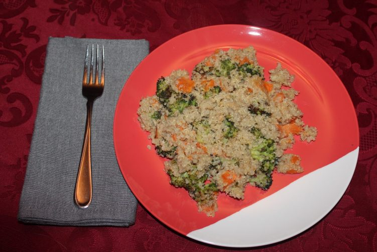 Sweet Potato and Broccoli Quinoa recipe by Vegetarian Atlas.