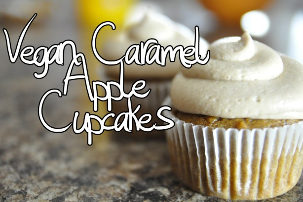 Vegan Caramel Apple Cupcakes