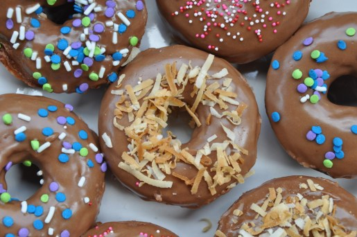 Easy Baked Nutella Doughnuts with a Nutella Glaze