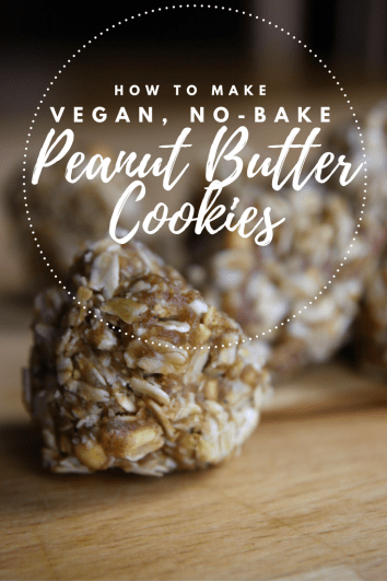 How To Make Vegan, No Bake Peanut Butter Cookies