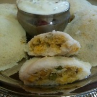 IDLI(STUFFED) WITH COCONUT RAITA