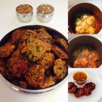 BLACK CHANNA(CHICKPEAS) POHA(FLATTENED RICE) VADA(FRITTERS)