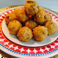 INSTANT MOONG DAL LADOO WITHOUT ROASTING AND GRINDING