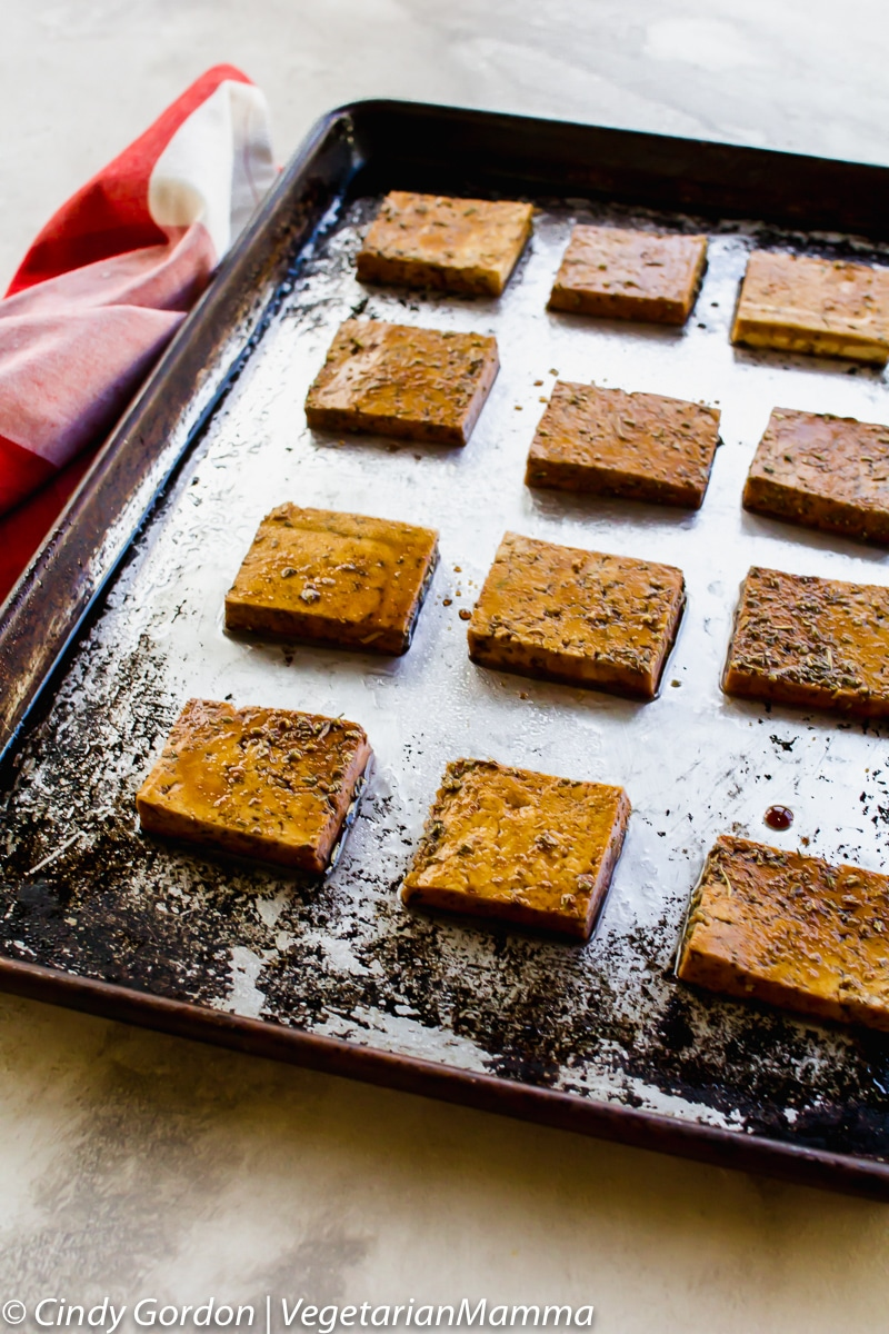 Balsamic Tofu and Mushrooms