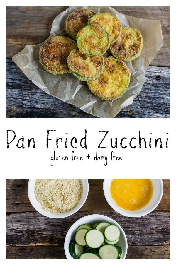 Gluten-free fried zucchini coins are a traditional summer favorite that combines ripe garden zucchini with simple ingredients to create the perfect crispy pan fried zucchini. An easy side dish that everyone will love!