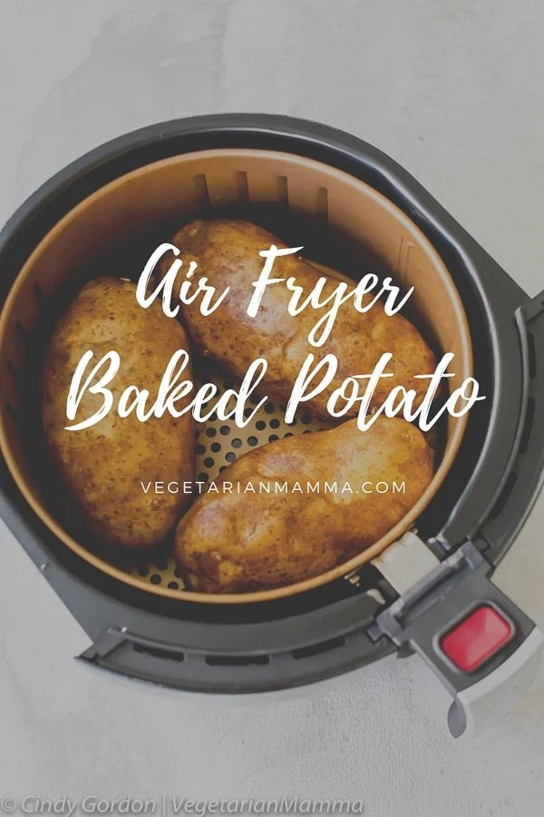 Air Fryer Baked Potatoes are a simple, yet quick and easy way to prepare your baked potatoes. No need to heat your big oven, the air fryer can do it. #airfryer #bakedpotatoes