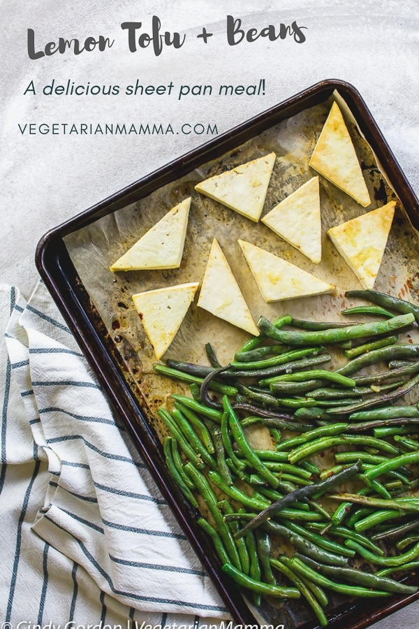 Lemon Tofu and Beans - A Vegetarian Sheet Pan Meal
