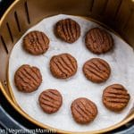 Double chocolate cookies in air fryer
