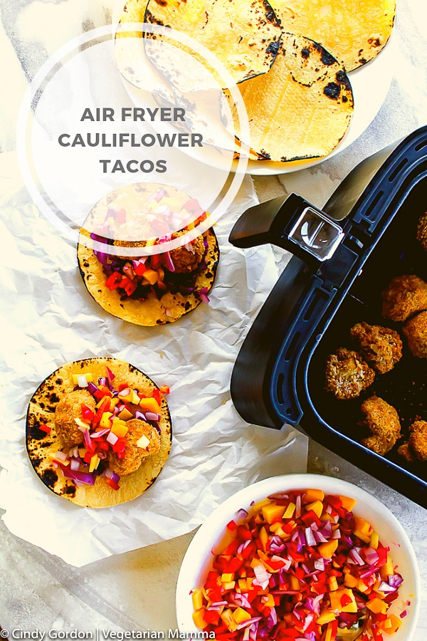 Air Fryer Cauliflower Tacos