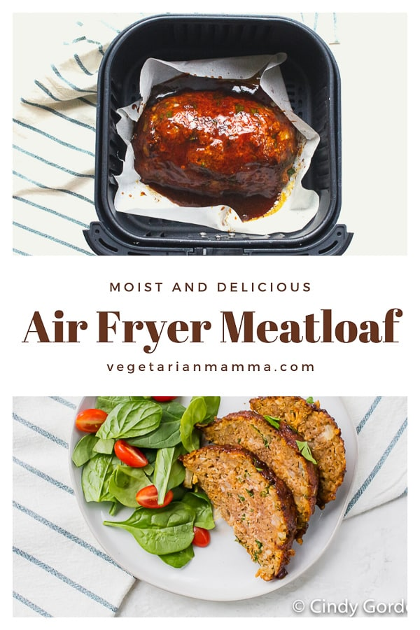 Air Fryer Meatloaf is a game changer. You can early make meatloaf in the air fryer much quicker than a traditional oven. You are going to love this air fryer meatloaf recipe. #airfryerrecipes #airfryermeatloaf
