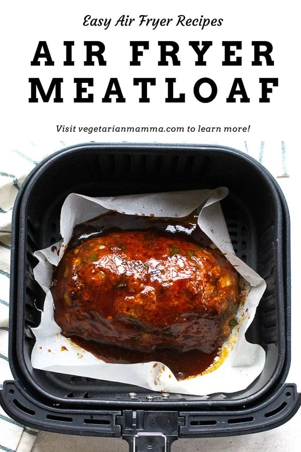 Air Fryer Meatloaf is a game changer. You can early make meatloaf in the air fryer much quicker than a traditional oven. You are going to love this air fryer meatloaf recipe. #airfryermeatloaf #airfryerrecipes