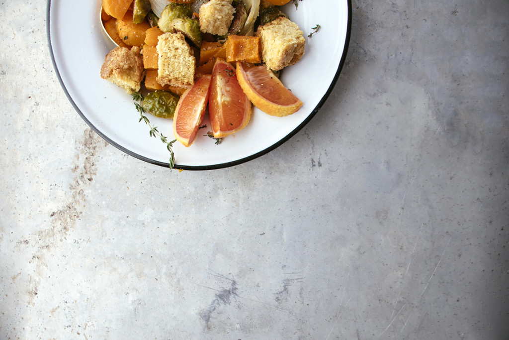 Winter Panzanella Salad With Cornbread Croutons