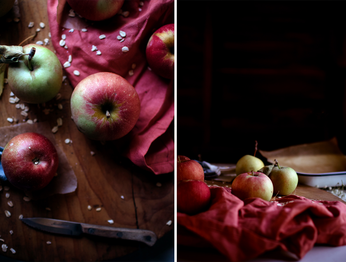 Roasted Apples With Oats & Salted Molasses