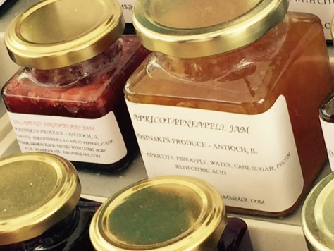 Jeremy picked up Red Raspberry Preserves from Rosinski's Farm, Antioch.