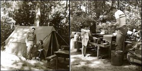 Dad and me camping circa 1953 or 1954.