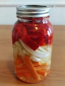 Pickles de légumes d'été