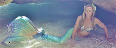 Rebecca Corby as a mermaid
