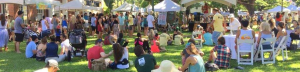 people at vegfest oahu on event day