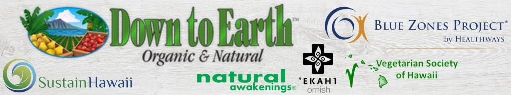 sponsor banner with logos vegan event