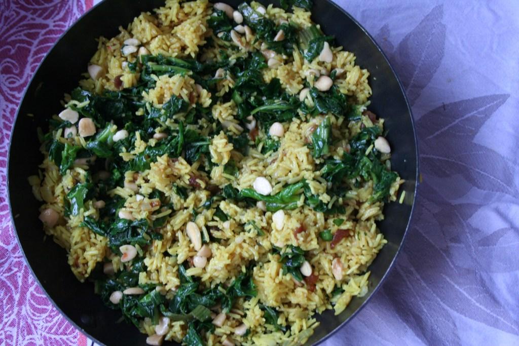 Afrikanischer Gewürzreis mit Spinat Rezept