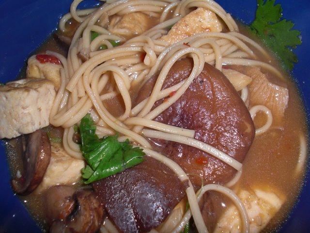 Favorite Spicy Shitake Udon Miso Soup