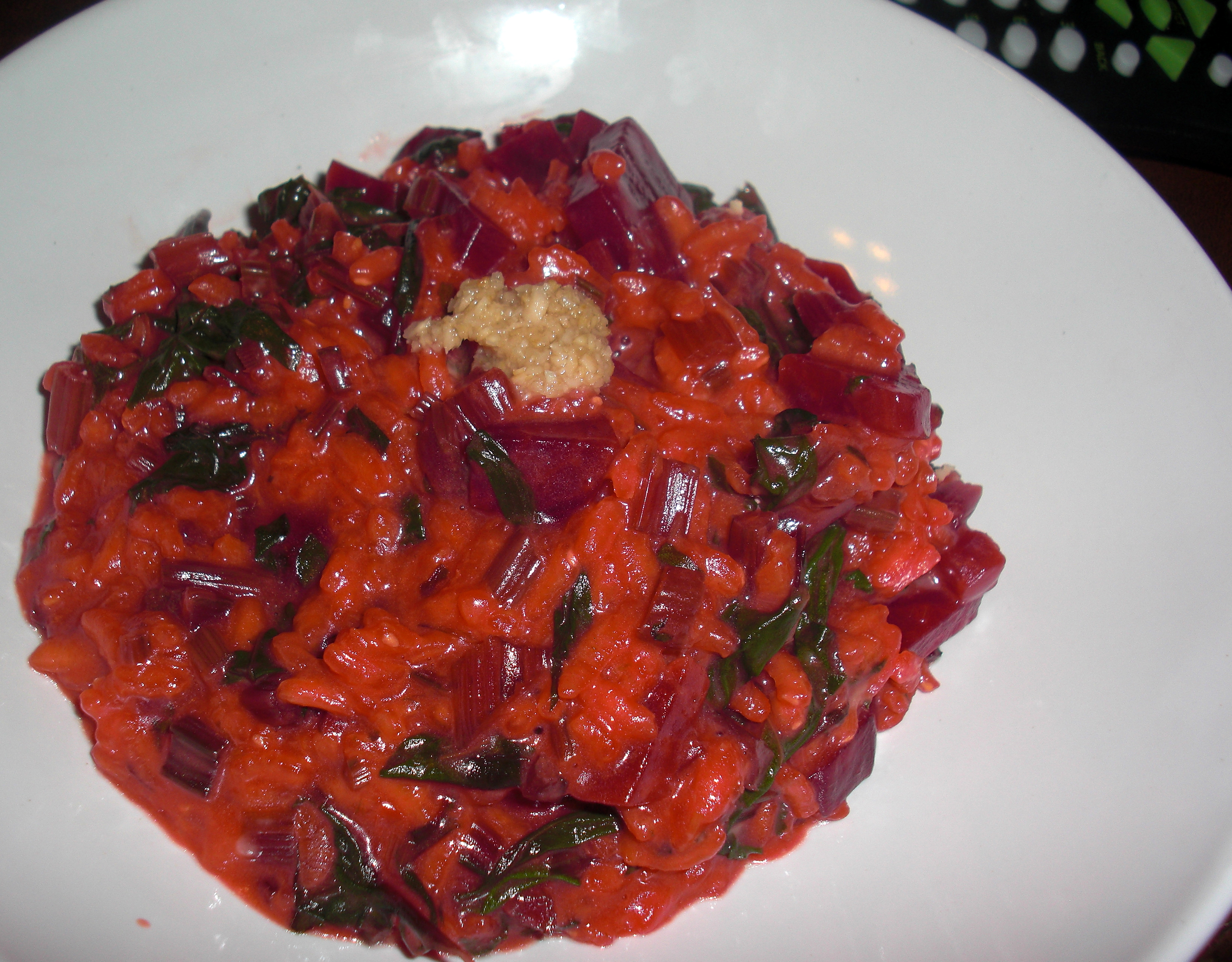 Beet Risotto with Horseradish