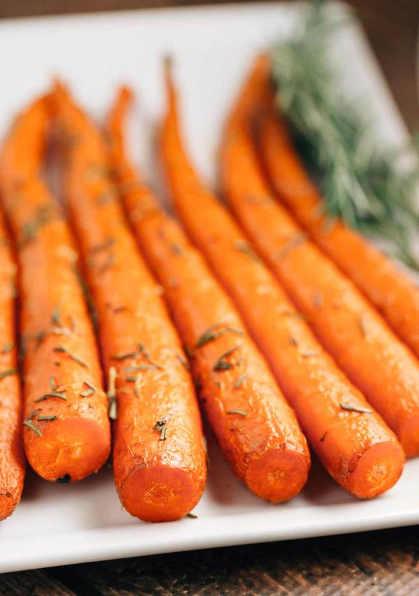 Sweet Rosemary Roasted Carrots (Vegan, Gluten Free)