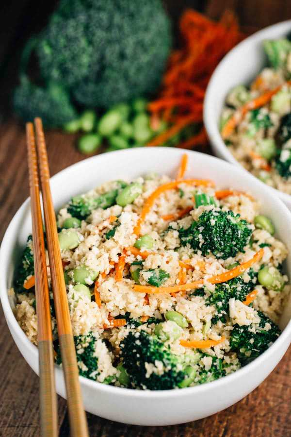 Cauliflower ?Rice? Stir Fry Bowl (Vegan, Gluten Free)