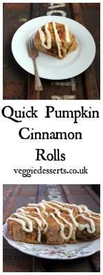 Quick Pumpkin Cinnamon Rolls | Veggie Desserts Blog