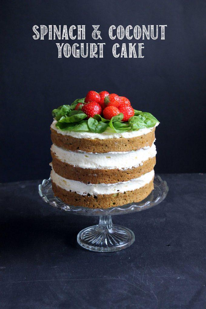 Spinach Coconut Yogurt Cake | Veggie Desserts
