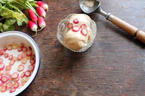 Vegan Cinnamon Ice Cream with Maple Roasted Radishes   Veggie Desserts