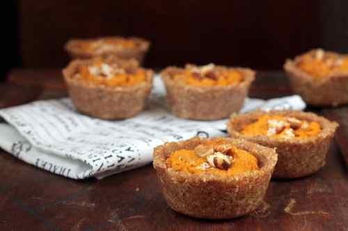 Pumpkin Tarts with Chai Hazelnut Crust   Veggie Desserts