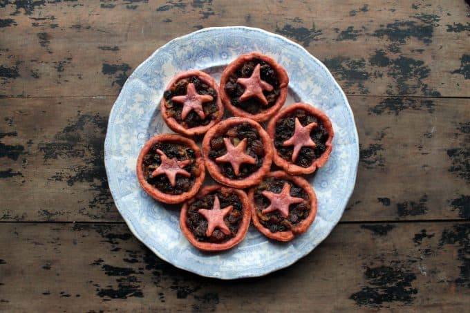 Christmas Mince Pies with Beet Pastry   Veggie Desserts