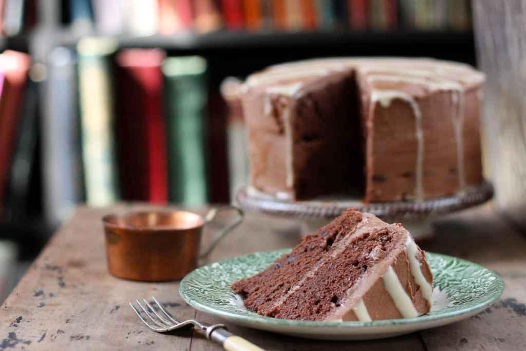 Mashed Potato Chocolate Cake with Tahini Drizzle | Veggie Desserts