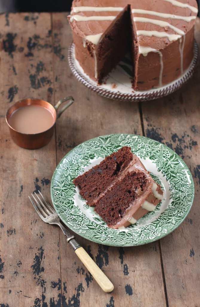 Chocolate Mashed Potato Cake with Tahini Drizzle | Veggie Desserts
