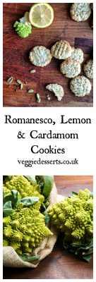 Romanesco Cardamom Lemon Cookies   Veggie Desserts Blog