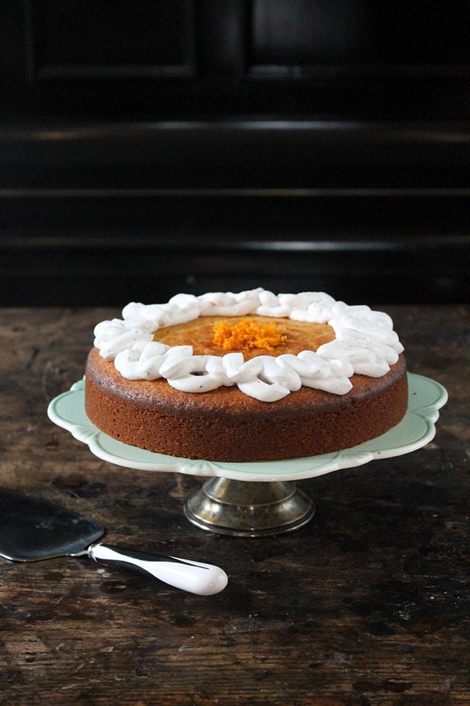 Almond and Orange PAN Corn Flour Cake with Cardamom Coconut Cream   Gluten-Free   Veggie Desserts Blog