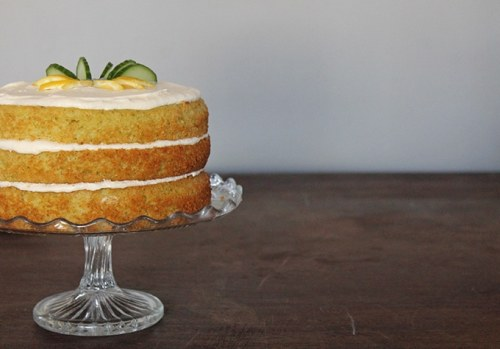 Lemon and Cucumber Cake with Gin Icing   Veggie Desserts Blog