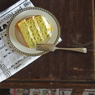 Lemon and Cucumber Cake with Gin Icing